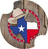 Thirstystone Texas Car Cup Holder Coaster, 2-Pack