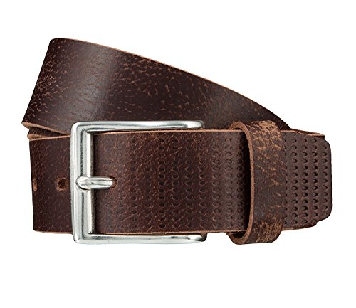 bugatti ceinture en cuir ceinture hommes marron 3676, Länge:100 cm;Farbe:braun