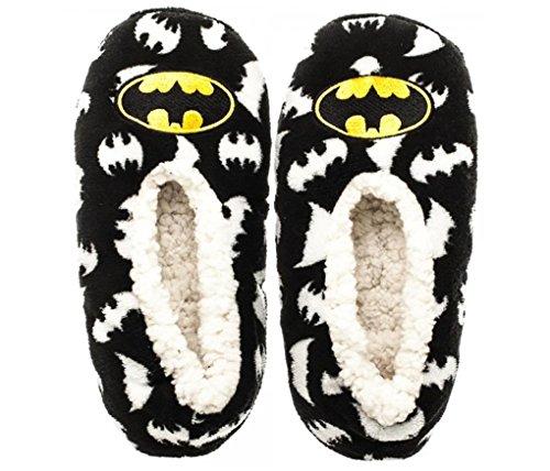 [DC Comics Batman Fuzzy Slipper Socks (Sm/Md)] (Batman Dress Socks)
