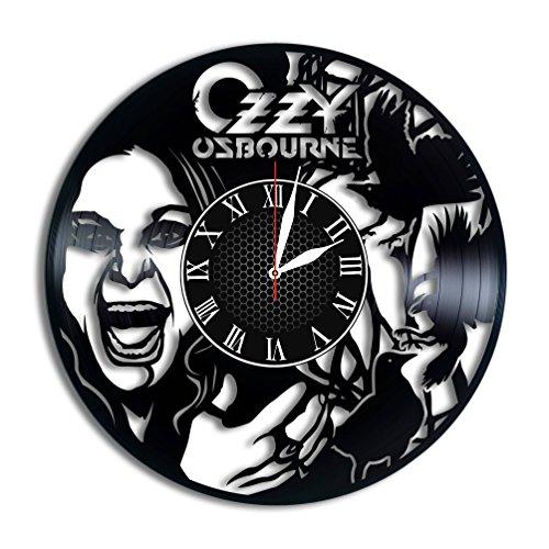 (Ozzy Osbourne vinyl clock Ozzy Osbourne wall decor Ozzy Osbourne nursery decor Ozzy Osbourne singer Ozzy Osbourne rock king Osbourne gift)