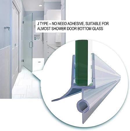 Tira para puerta de ducha, sin marco, cierre hermético con barra ...
