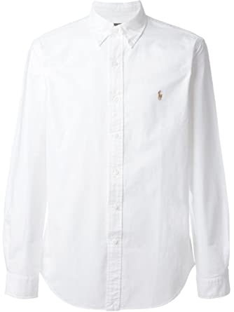 white polo button down