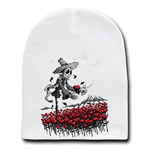 Mr. Scarecrow Found His Heart Classic Parody - White Adult Beanie Skull Cap Hat]()