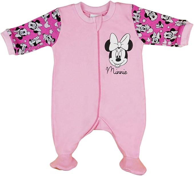 Disney Baby Strampler Minnie Mouse Babybekleidung Einteiler ärmellos mit Füßchen
