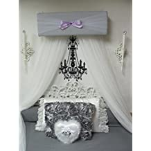 CrOwN Bed Canopy girls bedroom nursery crib Pelmet Upholstered Awning GRAY lavender Princess FrEe ShiPPinG Custom So Zoey Boutique SALE