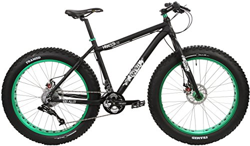 Framed Minnesota 2.0 Fat Bike Black/Green Sz 16