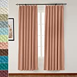 TWOPAGES Pinch Pleated 72″ W x 84″ L Jacquard Circle Thermal Blackout Window Curtain Drapery, Rust Bubble Wrinkle (1 Panels), For Traver Rod or Track For Sale