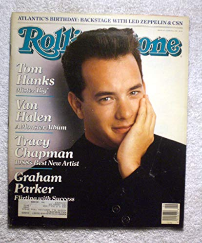 Tom Hanks - Mr. Big - Rolling Stone Magazine - #529 - June 30, 1988 - Van Halen, Tracy Chapman, Graham Parker articles ()