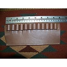 C.O.W.S. 44 Magnum & 45 Colt Caliber Brown Leather Ammo Belt Slide Carrier