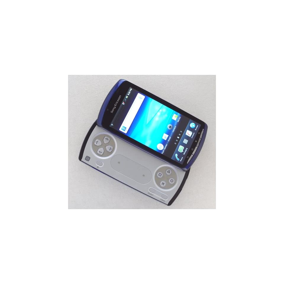 Sony Ericsson Xperia Play 4G R800a Unlocked GSM Playstation Phone with Android 2.3 OS, 5MP Camera, GSP and Wi Fi   Stealth Blue Cell Phones & Accessories