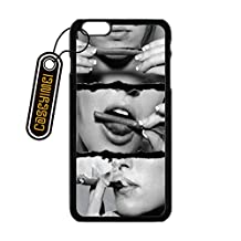 CASEYIMEI Country American Flag Marijuana Cannabis Weed Hemp Leaf Smoker Custom made Design Black Plastic Cell Phone Cases Cover for iPhone 6 plus case iPhone 6s plus case (5.5 inch)