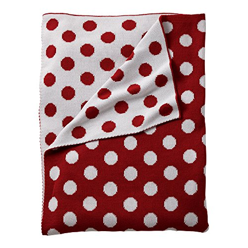 Ethan Allen | Disney Dotty Stroller Blanket, Mickey's Shorts Red