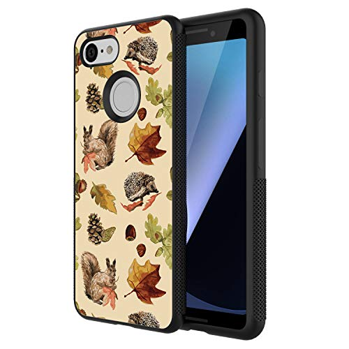 Pinecone Wide Light 3 (TPU Case for Google Pixel 3, Thin Lightweight Printed Protection Cover Case, Squirrel and Pine Cone Customized Design Skin Cover Google Pixel 3)