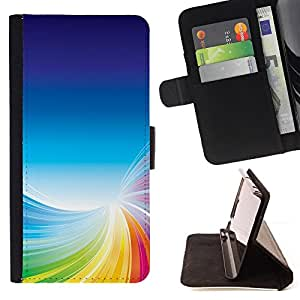 BullDog Case - FOR/Samsung Galaxy Note 3 III / - / Colorful Tornado /- Monedero de cuero de la PU Llevar cubierta de la caja con el ID Credit Card Slots Flip funda de cuer