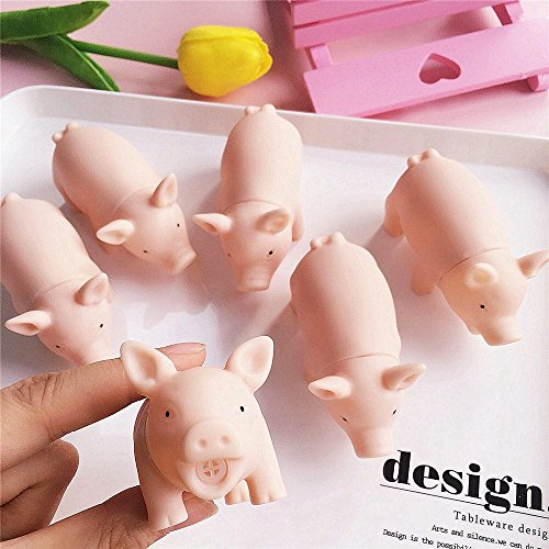 ing Teeth Dog Cat Chewing Toy Pig Squeaker Squeaky With Sound Squeak Cute Rubber Pet Dog Puppy Play Pig Toy P20 as show 1 piece ()
