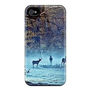 New Arrival Iphone 4/4s Case Deer On The River Case Cover