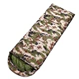 Backpacking Camouflage Sleeping Bag - Lightweight, Comfortable, Windproof,Water Resistant, 3 Season Sleeping Bag for Adults & Kids - Ideal for Hiking, Camping & Outdoor Adventures (Camouflage)