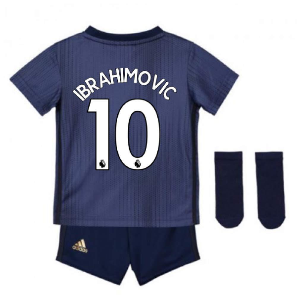 UKSoccershop 2018-2019 Man Utd Adidas Third Baby Kit (Zlatan Ibrahimovic 10)