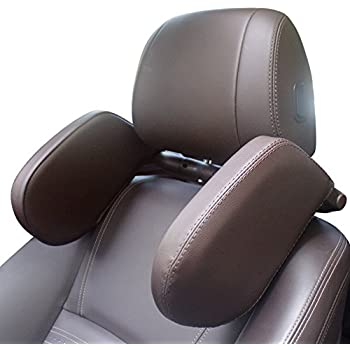 Slongreen Car Headrest Pillow Headrest For Car seats Headrest Cushion For Car, Brown