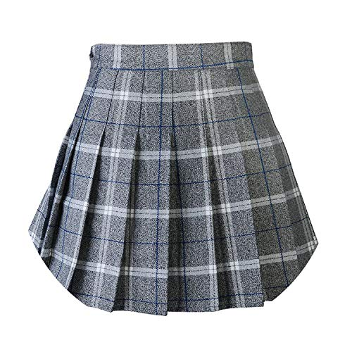 Summerdress Women Short Dresses Pleat Skirt Preppy Style Plaid Skirts Mini Cute School Uniforms Jupe Kawaii -