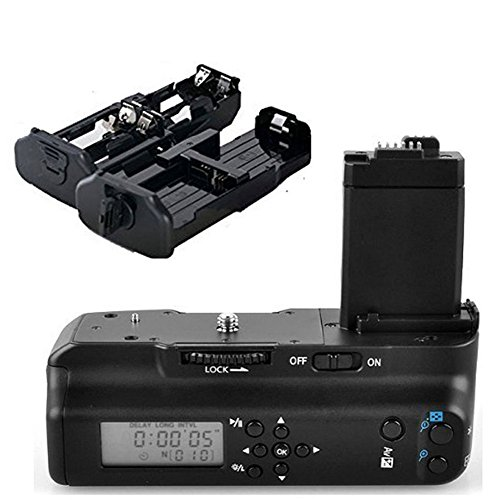 Meike Vertical Muti Power Battery Grip with LCD Screen Display for Canon EOS 450D 500D 1000D Rebel XS XSi T1i as BG-E5 Replacement (Canon Xsi Rebel Battery Grip)