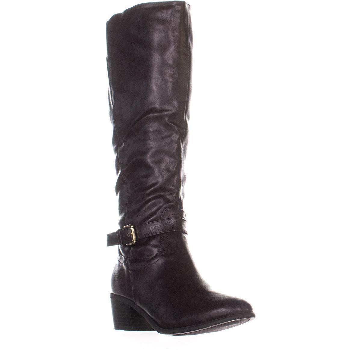Dark Brown Karen Scott KS35 Fayth Below The Knee Riding Boots, Black