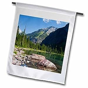 Danita Delimont - Lakes - Montana, Glacier National Park, Avalanche Lake - US27 JWI0158 - Jamie and Judy Wild - 18 x 27 inch Garden Flag (fl_92085_2)