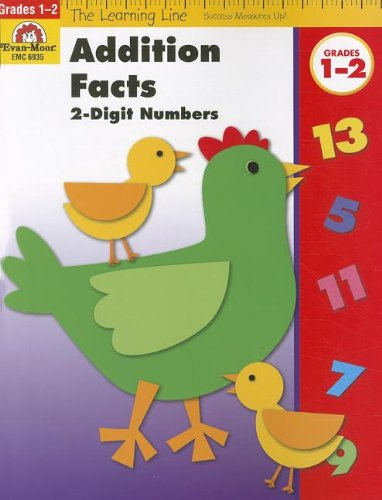 Addition Facts to 18, 2-Digit Numbers (Learning Line)