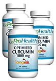 ProHealth Optimized Curcumin Longvida 3-pack (1000 mg, 30 tablets) (3-bottles) For Sale