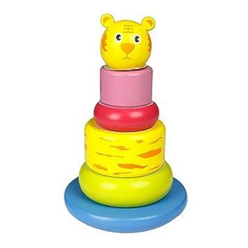 Juleya Montessori De Madera De Apilamiento Y Plugging Juguetes Bebe
