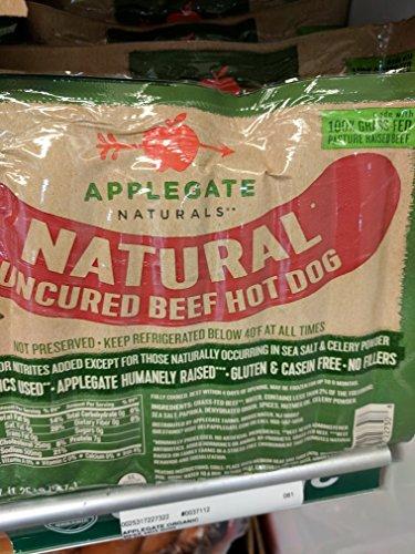 Uncured Hot Dog - Applegate Natural Uncured Beef Hot Dogs 20 Oz (2 Pack)