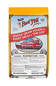 Bob's Red Mill Rolled Barley Flakes Hot Cereal, 25 Pound