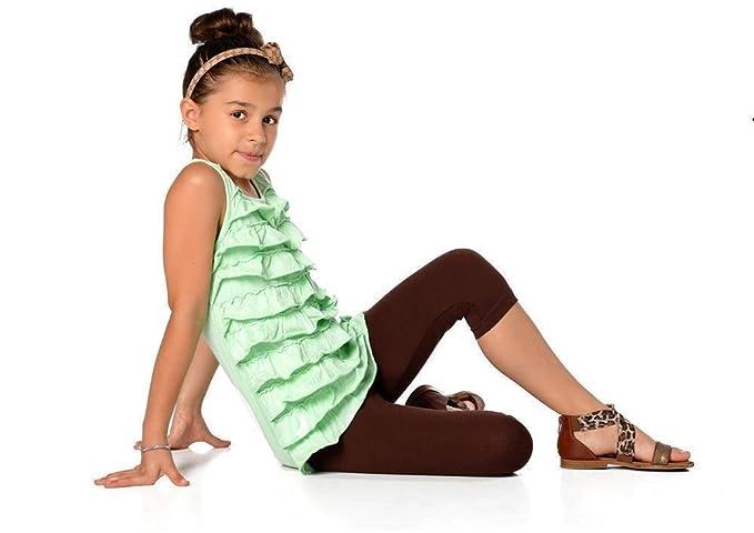 Kinder 3/4 Leggings in 22 Farben Baumwolle, Gr. 92 bis 158 cm, p701 ...