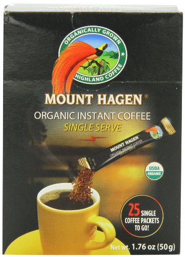 (Mount Hagen Organic Instant Regular Coffee, 25-Count Single Serve packets  (Pack of 4))