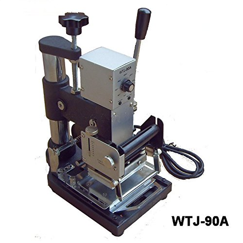 WTJ-90A Hot Foil Manual Plastic Card Stamping Embossing Machine Marking Press 220V/110V(hot stamping area:6x9cm)