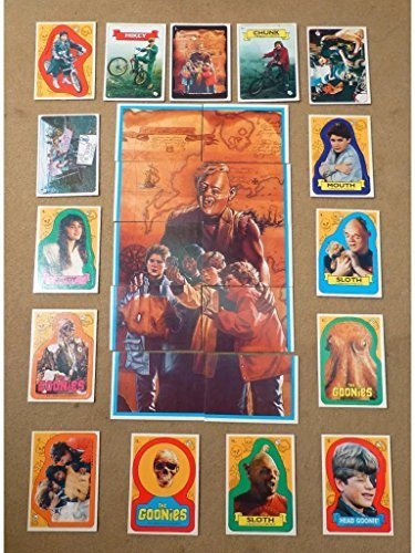 1985 topps goonies sticker set 22 stickers 15 plus 7 variations retro 80s rare non-sport trading puzzle cards