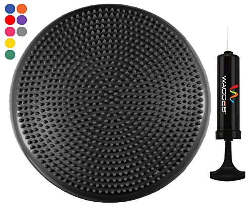 Wacces Inflatable Stability Balance Disc with Smart Pump, ( Black (Seating Disc)