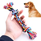 Pet Toys by Vibola Chew Toy Knot Fun Tough Strong Puppy Dog Pet Tug War Play Cotton Rope random color (Multicolor)