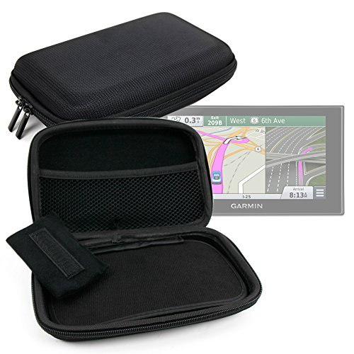 DURAGADGET 7'' Hard EVA Satnav Storage Case in Black for Garmin Nuvi 2639LMT / 2689LMT / 2757LMT - With Dual Zip Closure and Internal Divided Storage Compartments by DURAGADGET