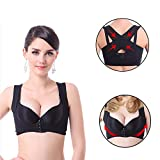 Chest Brace for Women, Gmayoo Posture Corrector for Women, Chest Support, Push up The Chest, Female Bra X Strap Vest, Prevent Chest Hunchback, Sagging (Black, XL)