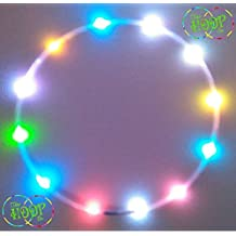 """LED Hula Hoop, Custom OD, 3/4"""" HDPE - RGB Color changing morph 12 xLED's super high density w Charger & Battery hulahoop"""