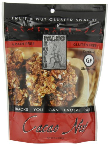 Paleo People Gluten Free Fruit & Nut Clusters, Cacao Nut, 5 Ounce (Pack of 3)