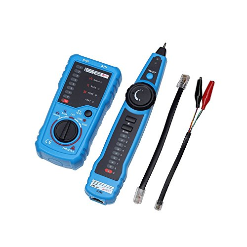 RJ11 RJ45 Network Wire Tester, Multifunction Line Finder Toner Ethernet LAN Cable Tester for Network Cable Collation, Phone Line Tester Electric Wire Tracer Finder by AKRAF