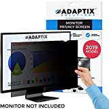 "Adaptix Monitor Privacy Screen 27"" – Info Protection for Desktop Computer Security – Anti-Glare, Anti-Scratch, Blocks 96% UV – Matte or Gloss Finish Privacy Filter Protector – 16:9 (APS27.0W9)"
