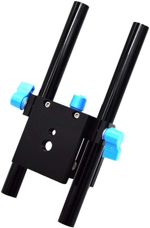 15mm Rail Rod Support System Baseplate Mount for DSLR Follow Focus Matte Box