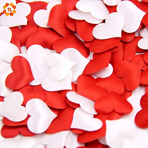 Decoration Wedding Table Decoration Wedding Table 100PCS/Lot Heart Fabic 2CM x1.5CM for Home Wedding Party Confetti Table & Baby Shower Birthday Party Decoration Supplies (Random)