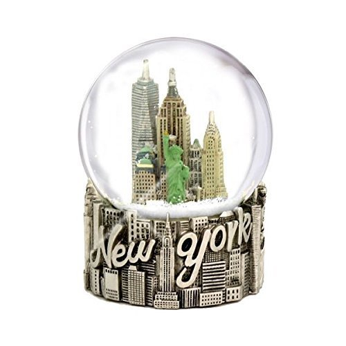 New York City Classic Silver Exclusive Snow Globe - 65mm
