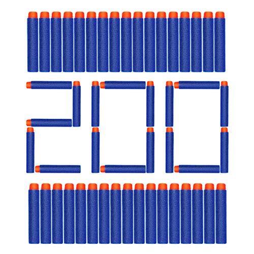 AUKND 200Pcs Nerf Bullet Refill Darts Premium