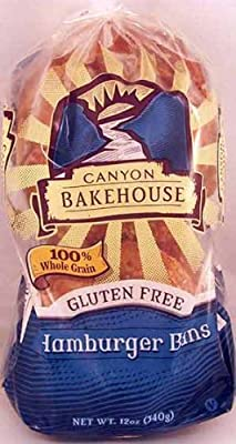 Canyon Bakehouse Gluten Free Hamburger Buns, 12 Oz. by GlutenFreePalace.com