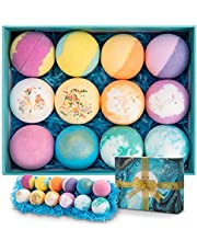 Bath Bomb Gift Set 12Pcs, Ribivaul Handmade Bath Bombs for Women and Kids, Organic Bath Bombs with Rich Bubbles and Colors, Bubble Bath Bombs Gift Set Thanksgiving Day, Halloween,Christmas